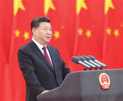 9月29日,中华人民共和国国家勋章和国家荣誉称号颁授仪式在北京人民大会堂金色大厅隆重举行。中共中央总书记、国家主席、中央军委主席习近平向国家勋章和国家荣誉称号获得者颁授勋章奖章并发表重要讲话。新华社记者 鞠鹏 摄
