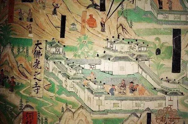 梁思成手绘的佛光寺东大殿侧断面图 佛光寺, 位于五台县东北32公里