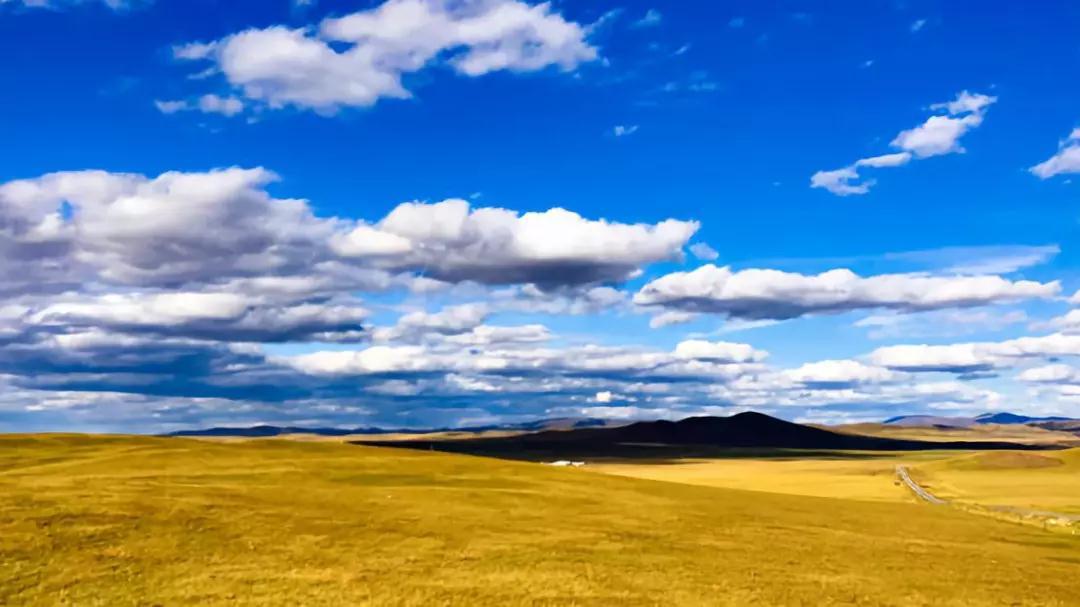 这里蓝天白云,远山近水相映,这里牛羊遍野,洁白的蒙古包星罗棋布.