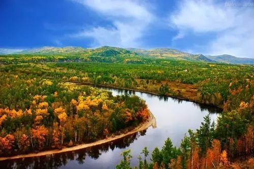 壮美内蒙古 旅游风景线  柴河镇是内蒙古目前唯一的国家级风景名胜区