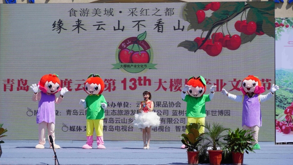 6月1日,青岛·平度云山第十三届大樱桃产业文化节在平度市蓝树谷